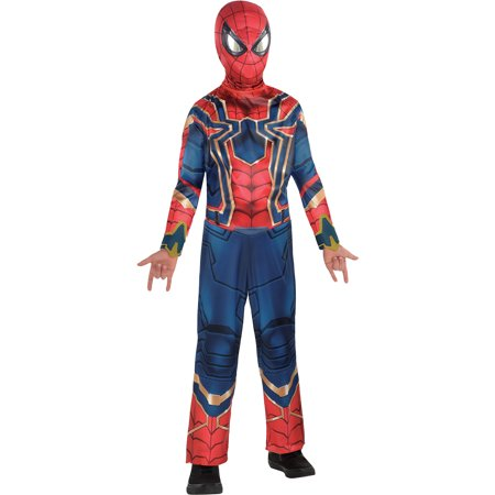 Avengers: Infinity War Spider-Man Iron Spider Costume for Boys, Size Small