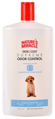 Natures Miracle Supreme Odor Control Puppy Shampoo & Conditioner, Spring Waters Scent, 32oz by Spectrum Brands