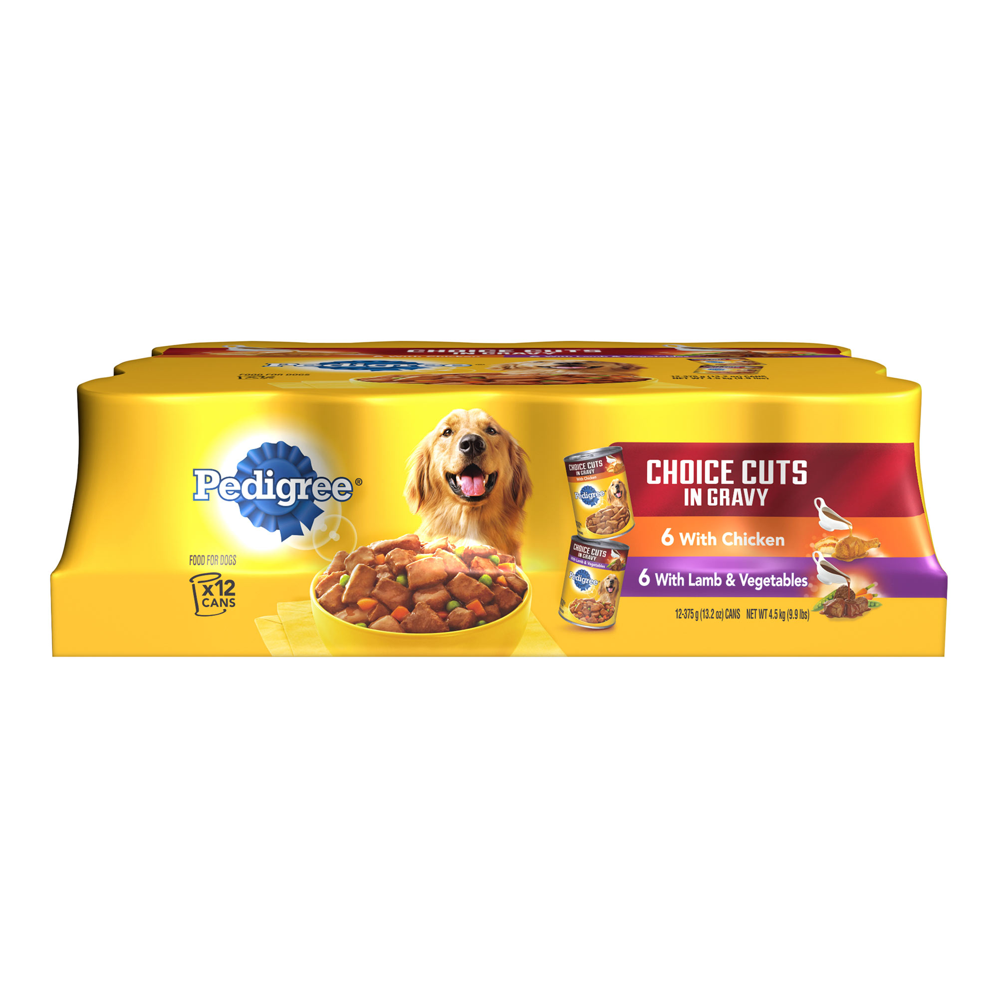 Pedigree Choice Cuts In Gravy Variety Pack Chicken And Lamb Wet Dog Food, 13.2 Oz (Pack Of 12)