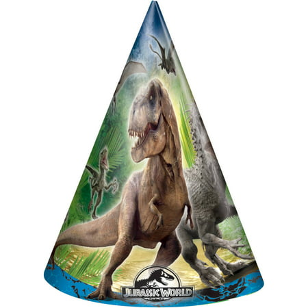 (3 pack) Jurassic World Party Hats, - Jurassic Park Birthday Party