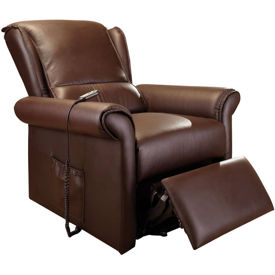 Acme Emari Recliner with Lift and Massage, Dark Brown Faux Leather by Acme Furniture