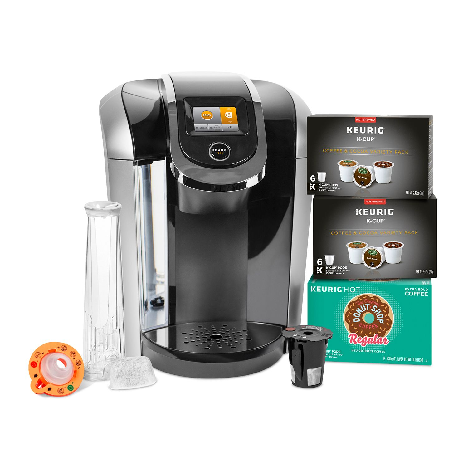Keurig K425S Coffee Maker with 24 K-Cup Pods & Reusable K-Cup 2.0 Coffee Filter