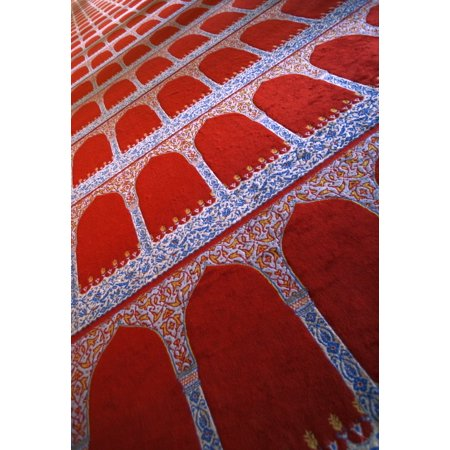 Prayer Rug At A Mosque Canvas Art - Carson Ganci Design Pics (11 x 16)