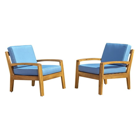Gorlomi Wooden Patio Club Chairs with Cushions