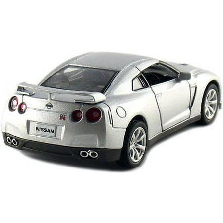 """5"""" Kinsmart 2009 Nissan GT-R R35 Diecast Model Toy Car 1:36 Silver"""