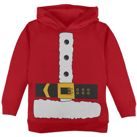 Santa Claus Costume Red Toddler Hoodie (Toddler Santa Costume)