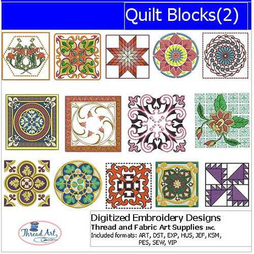 ThreadArt Machine Embroidery Designs Quilt Blocks(2) CD