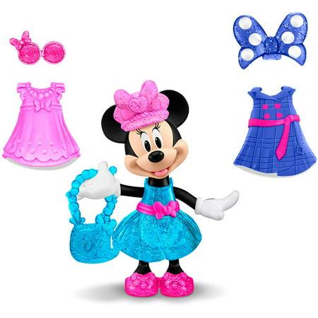 Fisher-Price Disney Minnie, World Traveler Minnie, 5 Snap 'n Pose Minnie doll By FisherPrice ()