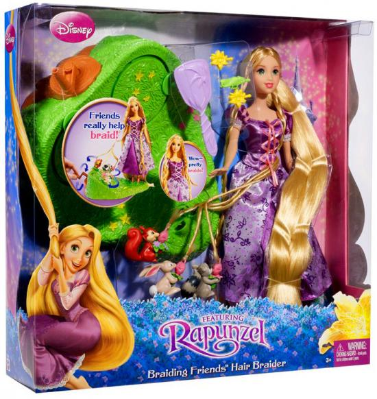 Disney Tangled Braiding Friends Hair Braider Doll