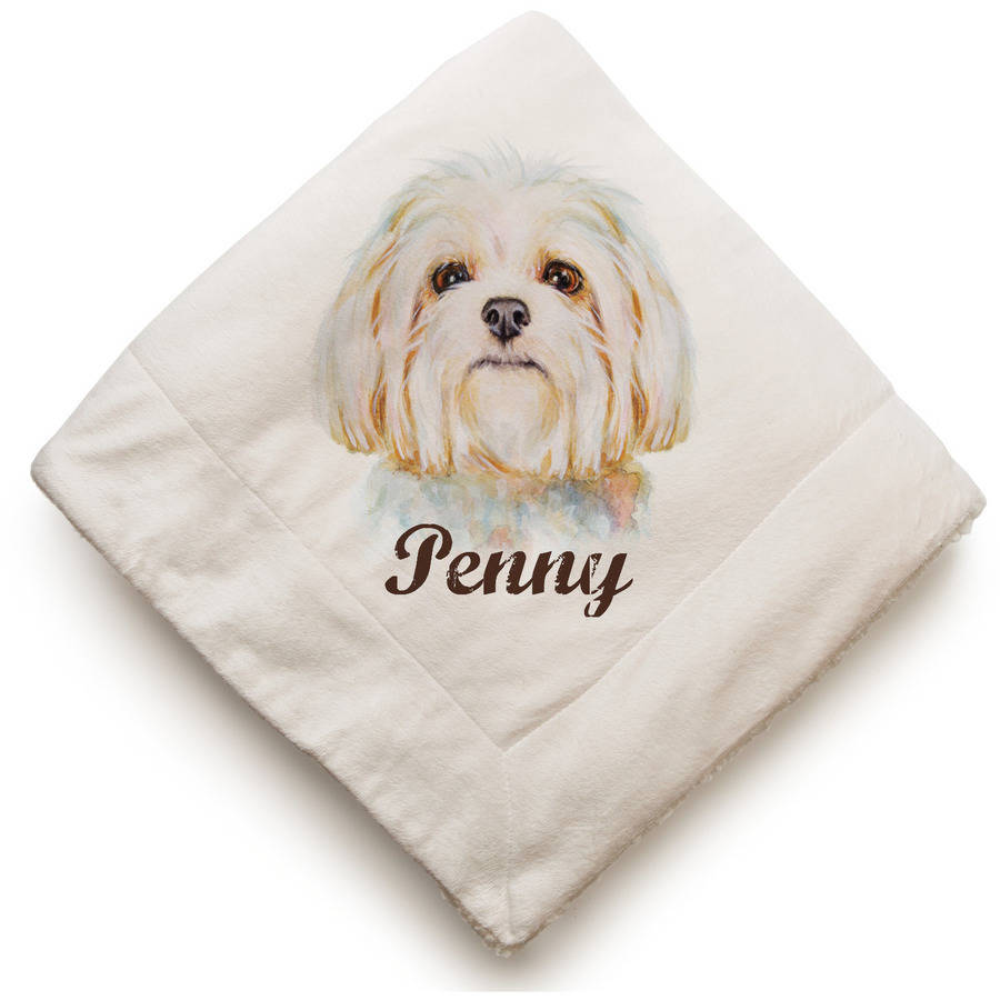 Dog Breeds Personalized Sherpa Blanket