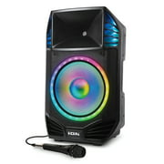 iON IPA126 Total PA Premier 15-Inch 500-Watt Bluetooth Portable Speaker System with LED Lights, Microphone, and Stand