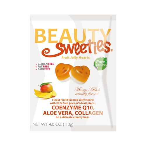 Mango & Peach Hearts 4.4 oz : 12 Count