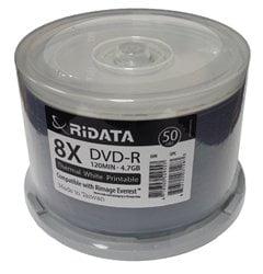 600 Ritek Ridata 8X DVD-R 4.7GB White Thermal Hub (Everest Compatible)