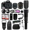 Nikon D5300 DSLR Digital Camera + 18-55mm VR II + 6.5mm Fisheye + 70-300mm VR + 650-2600mm Lens + Filters + 128GB Memory + Action Stabilizer + i-TTL Autofocus Flash + Backpack + Case + 70  Tripod