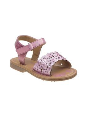 Laura Ashley O-LA81517SPINK9 Embellished Sandals for Toddler Girls, Pink - Size 9