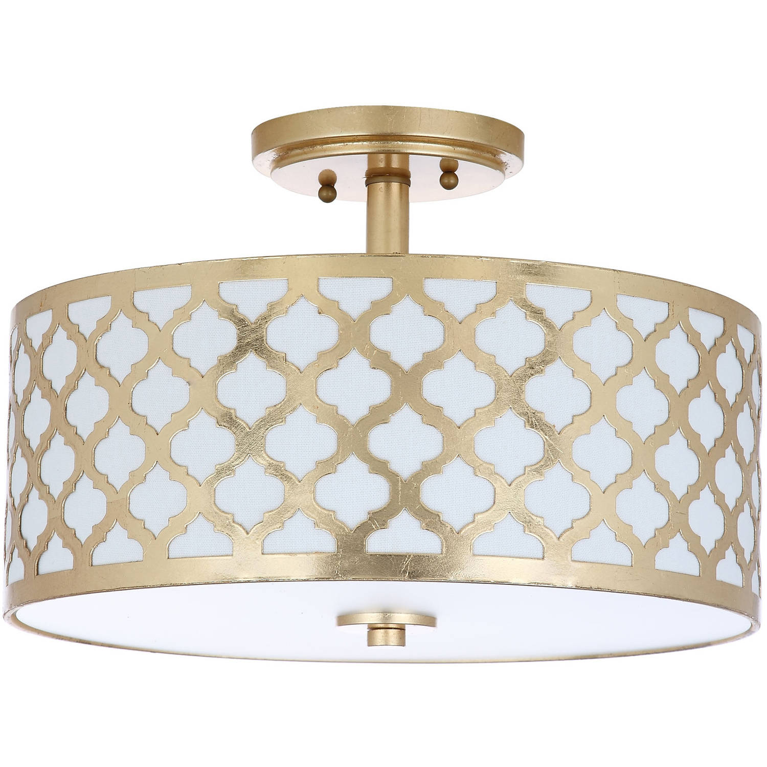 "Safavieh Kora 3-Light 15"" Diameter Flush Mount"