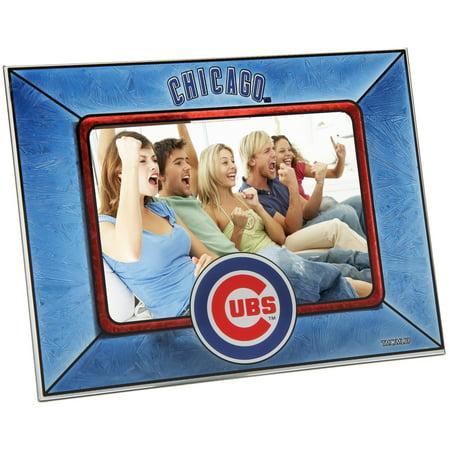 Chicago Cubs Horizontal Art Glass Frame - No (All Glass Frames)