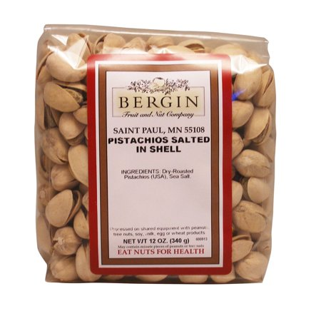 Bergin Fruit and Nut Company  Pistachios  Salted in Shell  12 oz  340