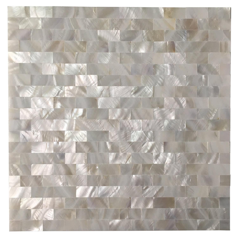 Art3d Peel and Stick Kitchen Backsplash Tile Mother of Pearl Shell