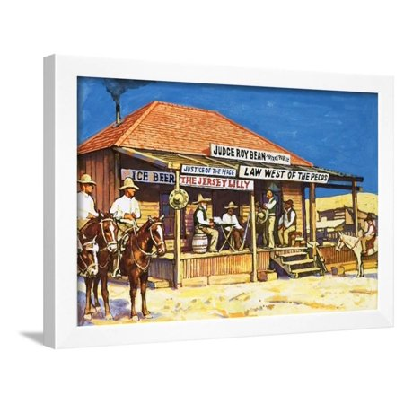 Roxy Paradise Printed (Judge Roy Bean Who Dispensed Tough Justice from His Saloon Framed Print Wall Art By Harry Green )