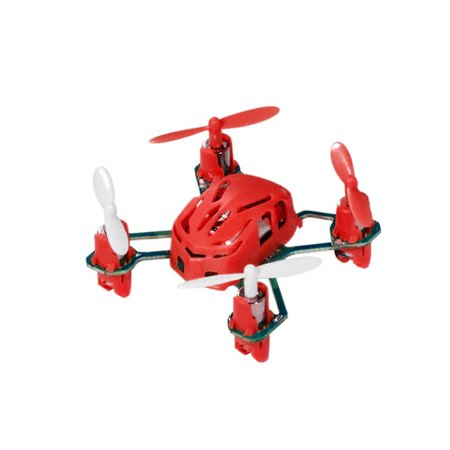 Hubsan Q4 H111 Nano Mini 4-Channel RC Quadcopter Flying Drone with 2.4GHz Radio System, Red