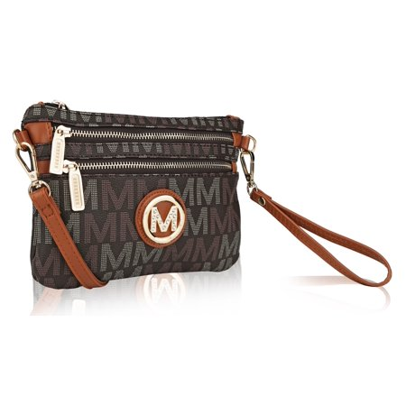 "MKF Collection by Mia K. Farrow Helen Milan ""M"" Signature Crossbody Wristlet"