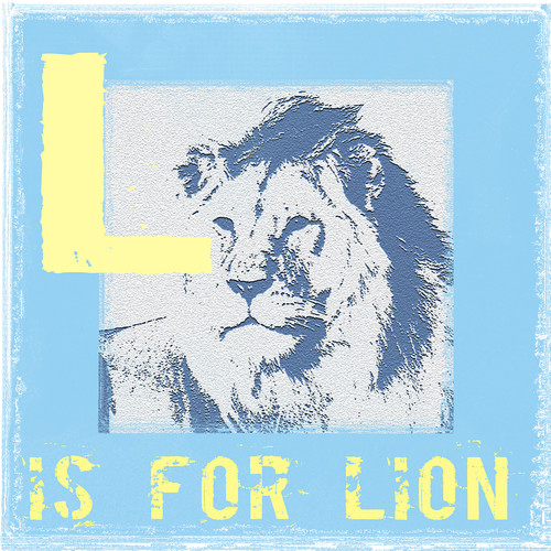 Graffitee Studios Rated G Kids L is for Lion Graphic Art on Wrapped Canvas
