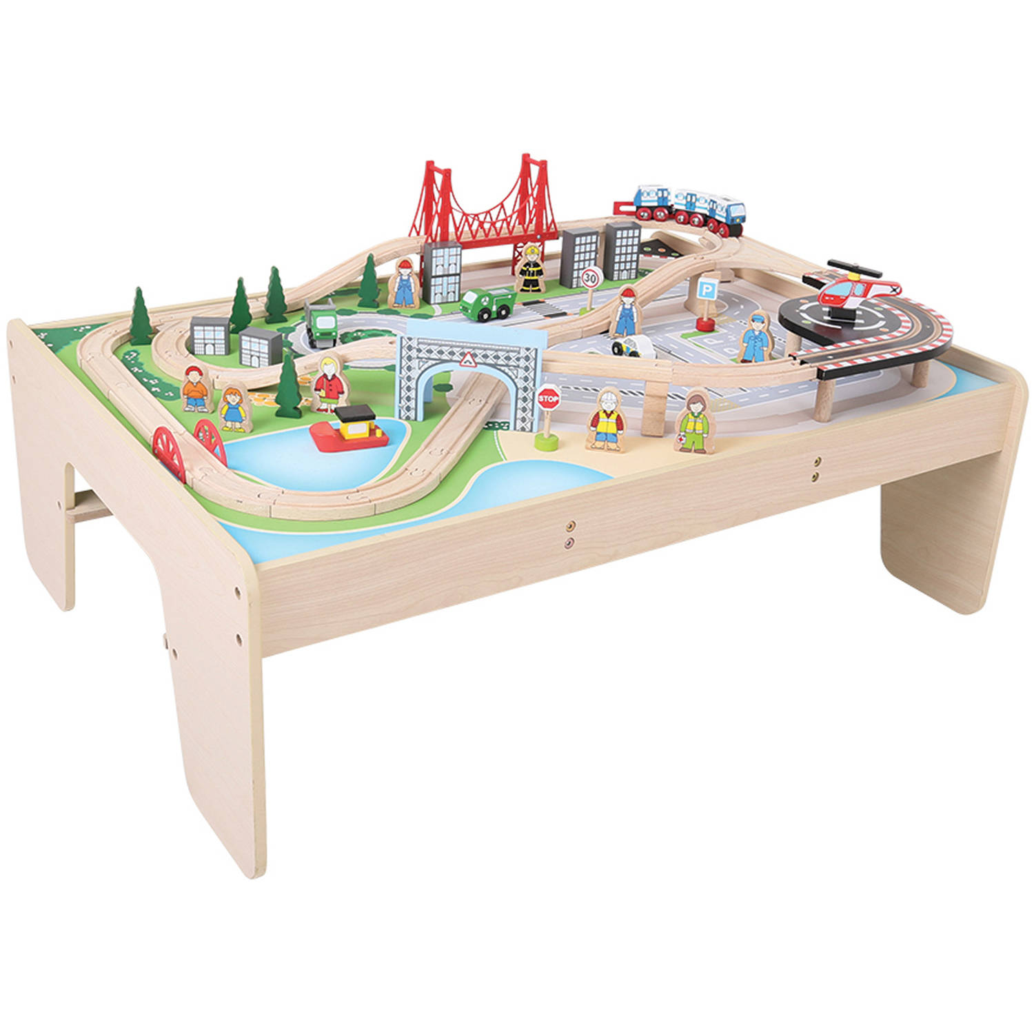 Bigjigs Toys City Train Set and Table by BigJig Toys