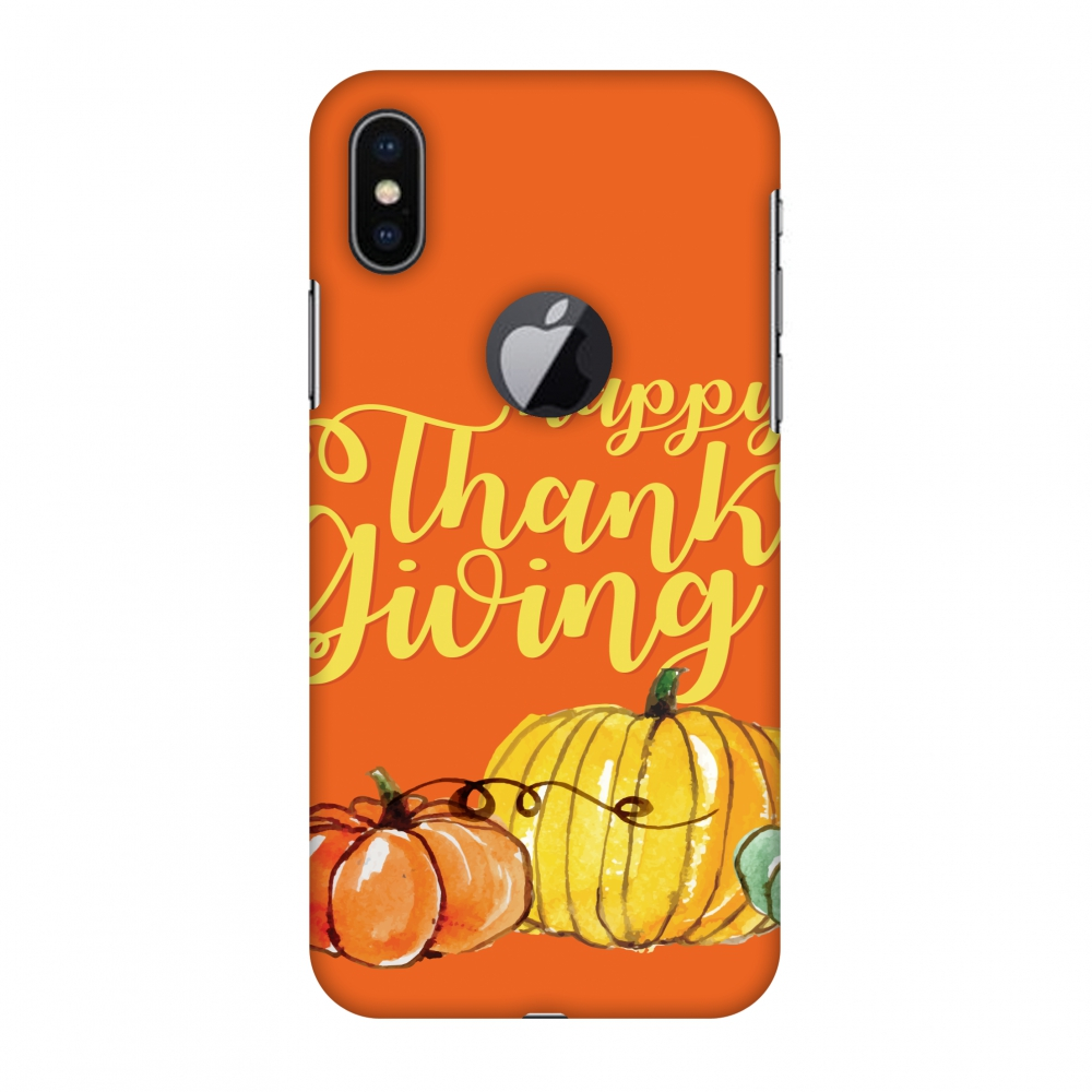 iPhone X Case - Pumpkin Pattern, Hard Plastic Back Cover. Slim Profile Cute Printed Designer Snap on Case with Screen Cleaning Kit