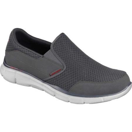 skechers sport men's equalizer persistent slip on sneaker, charcoal, 9 m us
