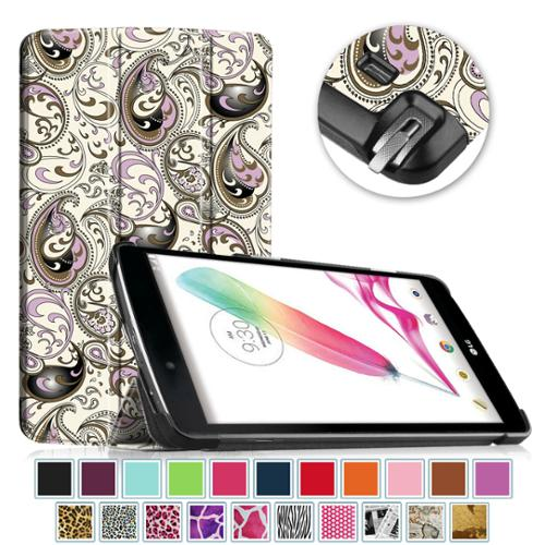 Fintie Case for LG G Pad F 8.0 AT&T V495/T-Mobile V496 /US Cellular UK495 - Slim Shell Standing Cover, Paisley Waves