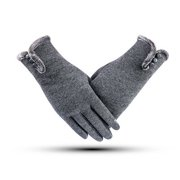 KABOER Winter Knitted Gloves Mittens Female Stretch Wool Warm Gloves Screen Guantes