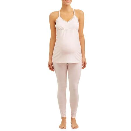 618394c2aa39f Nanette Nanette Lepore Maternity Sleepwear - Maternity Nursing Snap Down  Top and Pants Sleep Set - Walmart.com