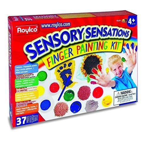 Roylco R83460 Sensory Sensations Finger Painting Kit