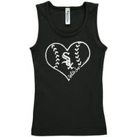 Chicago White Sox Soft as a Grape Girls Youth Cotton Tank Top - Black