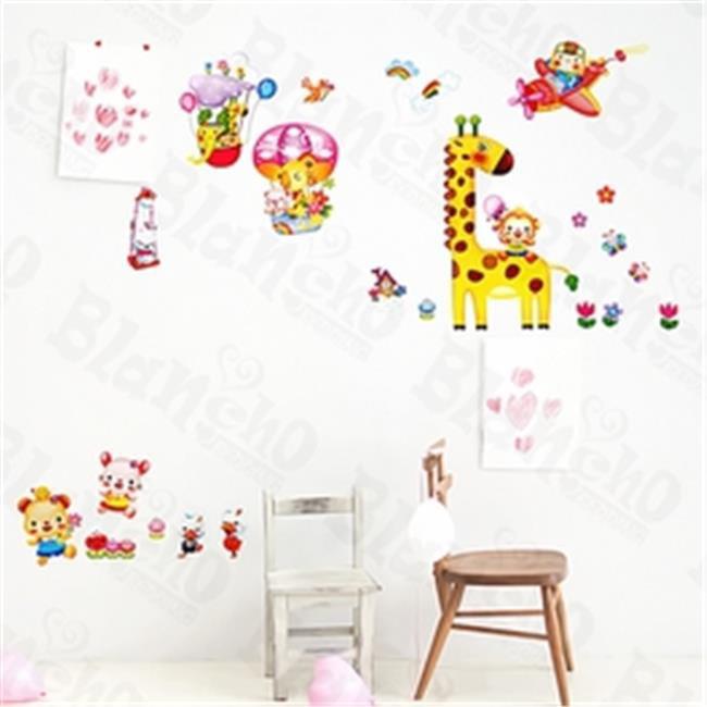 Animal Friends 4 - Medium Wall Decals Stickers Appliques Home Decor  Multicolor