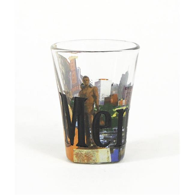 Americaware SGMEM01 Memphis Full Color Etched Shot Glass by Americaware