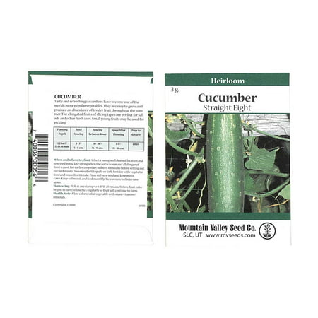Straight Eight Cucumber Garden Seeds - 3 Gram Packet - Non-GMO, Heirloom Vegetable Gardening Seeds - AAS Award Winner
