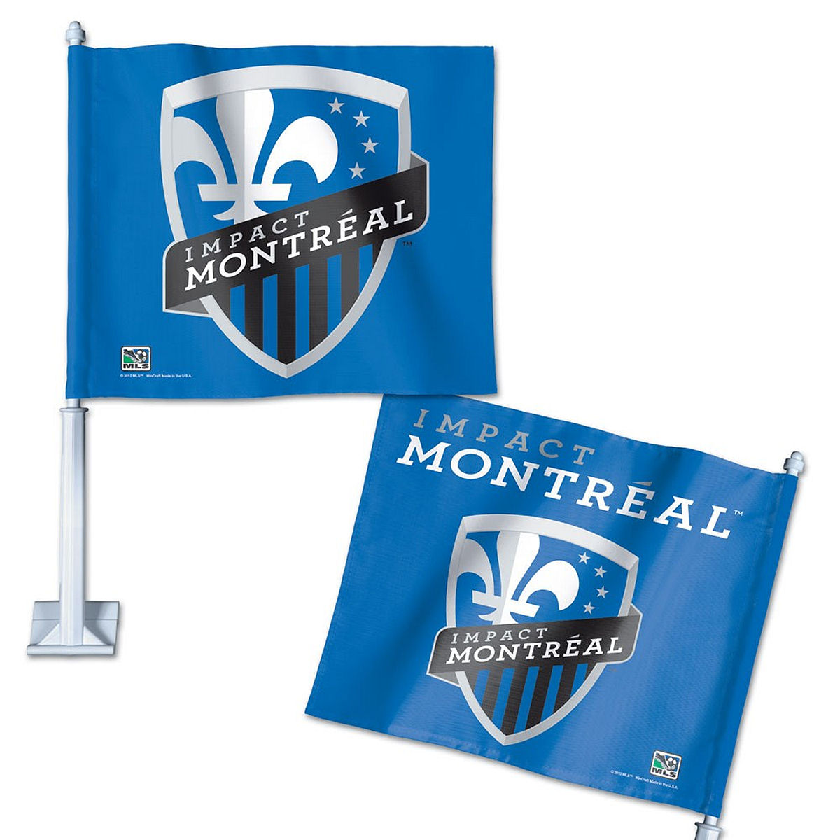 "Montreal Impact 12"" x 14"" Car Flag"