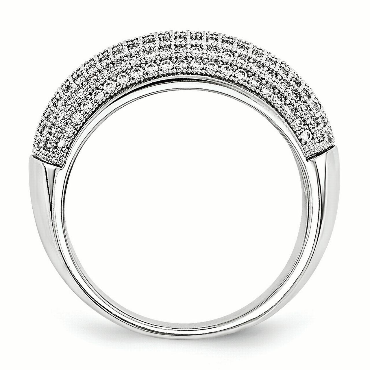 925 Sterling Silver Cubic Zirconia Cz Band Ring Size 7.00 Fine Jewelry Gifts For Women For Her - image 2 de 3