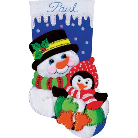 Design Works Felt Stocking Applique Kit 18