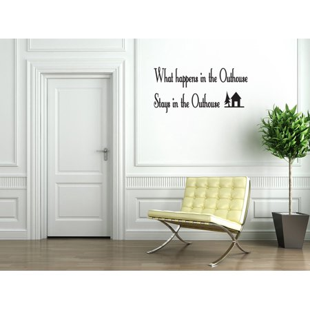 outhouse bathroom vinyl wall decal quotes wall stickers bathroom decals home decor decals 136. Black Bedroom Furniture Sets. Home Design Ideas