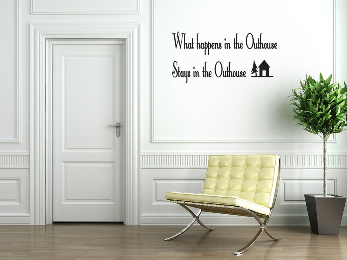 Outhouse Bathroom Vinyl Wall Decal Quotes Wall Stickers Bathroom Decals  Home Decor Decals 136