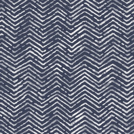 Waverly Inspirations Herringbone Navy 100% Cotton Duck Fabric Quilt Crafts, per Yard