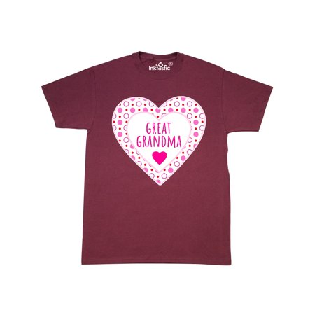 Great Grandma Pink Valentine Hearts T-Shirt