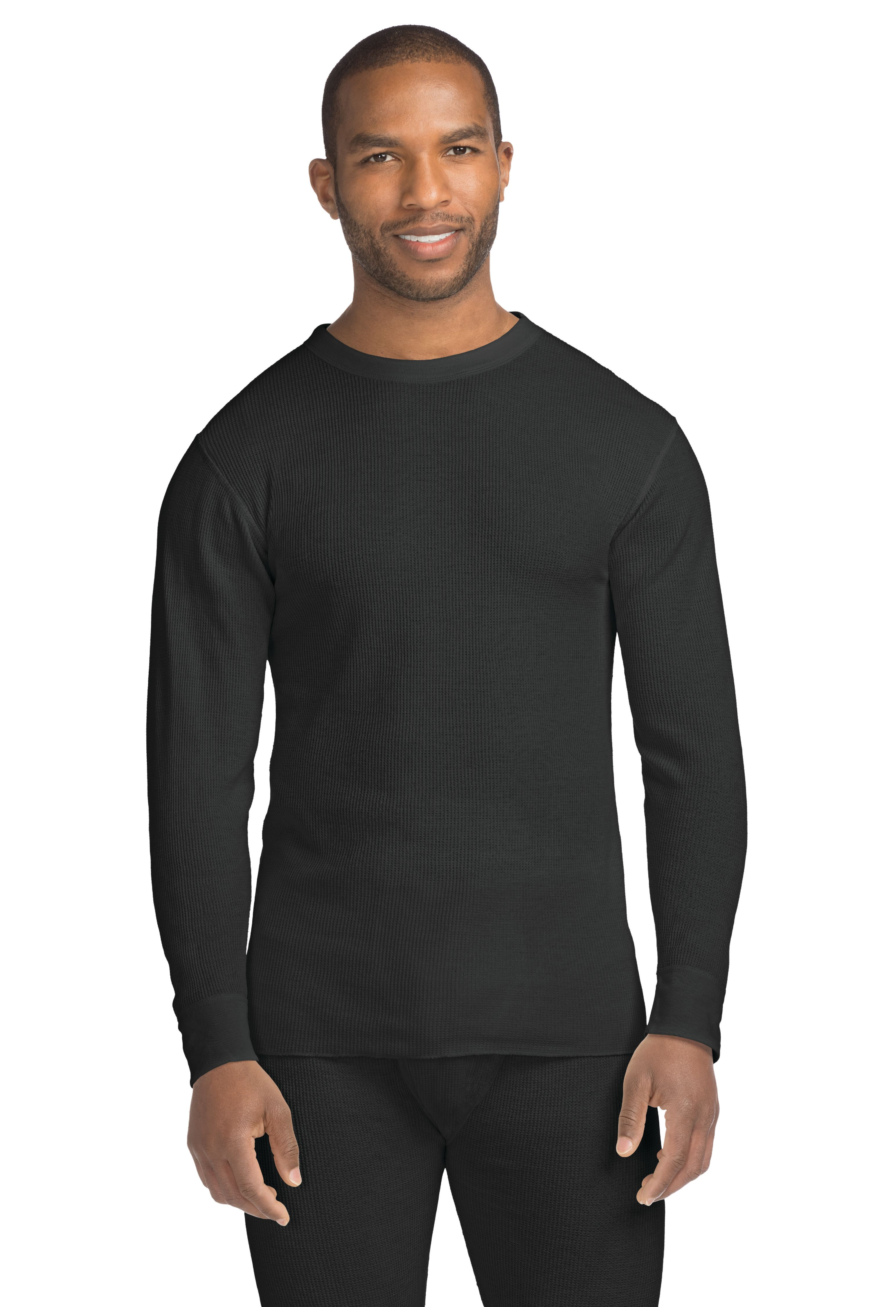 Hanes Big Men's X-Temp Thermal Waffle Crew with FreshIQ