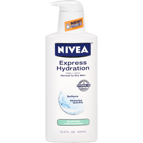 Nivea Express Hydration Lotus Flower & Sea Minerals Daily Lotion, 13.5 oz