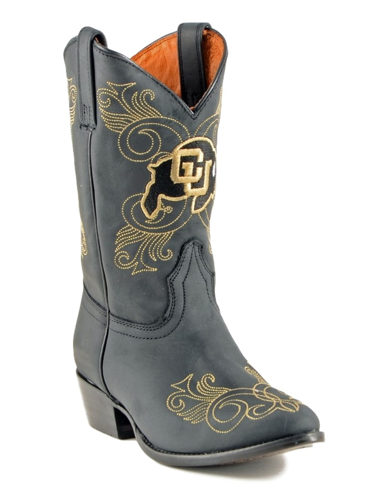 Gameday Boots Girls College Team U Of Colorado Black COL-G039-2 by GameDay Boots