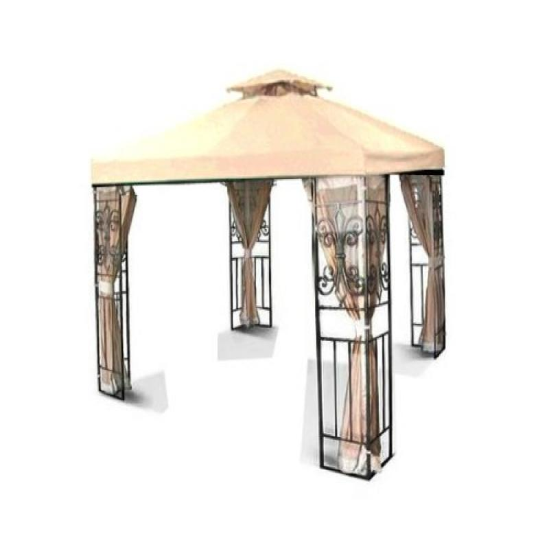 NEW 10' x 10' TWO TIER REPLACEMENT GAZEBO CANOPY TOP COVE...