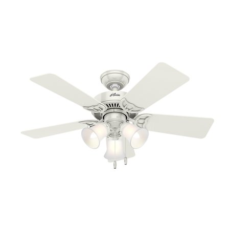 """Hunter 42"""" Southern Breeze White Ceiling Fan with Light"""